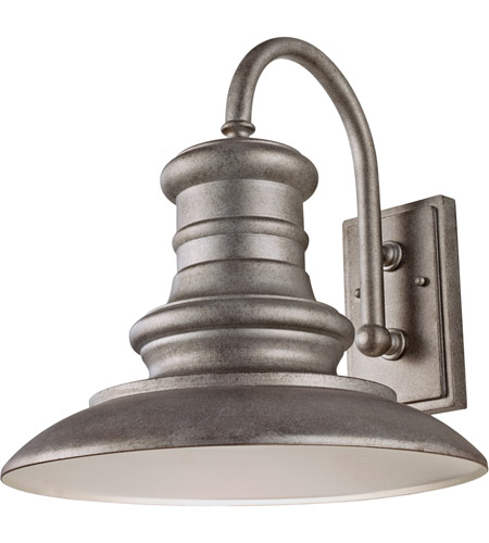 Feiss OL9004TRD Redding Station 1 Light 16 inch Tarnished Outdoor Wall Sconce in Standard photo
