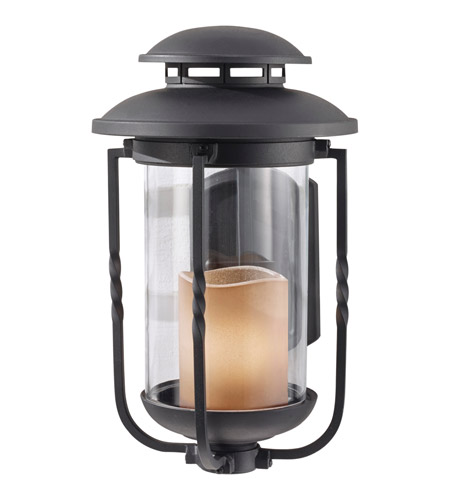 Feiss Menlo Park 1 Light Outdoor Wall Sconce in Textured Black OL9201TXB photo