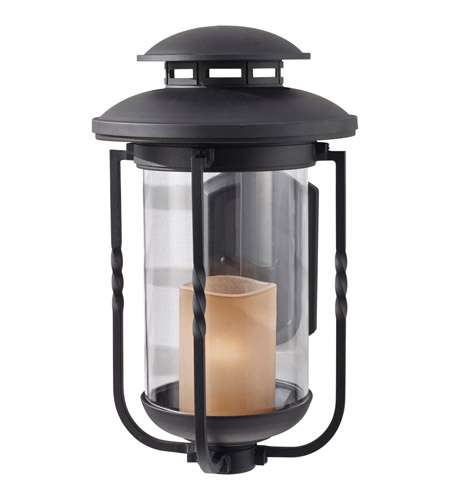 Feiss Menlo Park 1 Light Outdoor Wall Sconce in Textured Black OL9204TXB photo