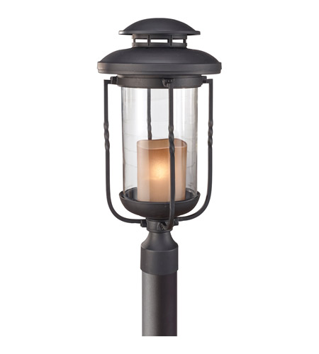 Feiss Menlo Park 1 Light Post Lantern in Textured Black OL9208TXB photo