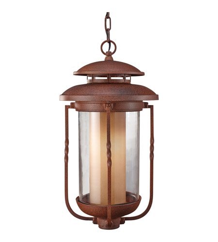 Feiss Menlo Park 1 Light Outdoor Hanging Lantern in Cinnamon OL9211CN photo
