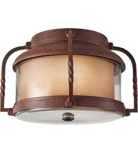 Feiss Menlo Park 2 Light Outdoor Flush Mount in Cinnamon OL9213CN photo