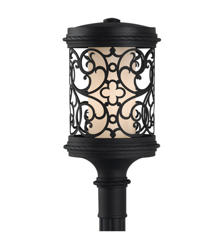 Feiss Costa Del Luz 1 Light Post Lantern in Black OLPL10109BK photo