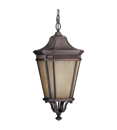 Feiss Cotswold Lane 1 Light Outdoor Hanging Lantern in Corinthian Bronze OLPL5812CB photo