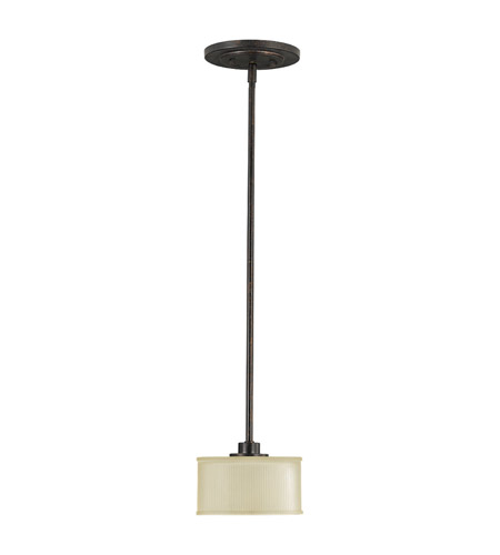 Murray Feiss Fusion Collection: Feiss Fusion 1 Light Mini Pendant In Grecian Bronze P1098GBZ