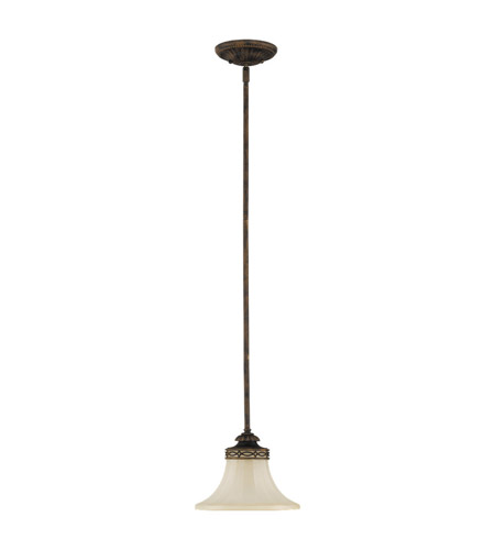 Feiss Drawing Room 1 Light Mini Pendant in Walnut P1114WAL photo