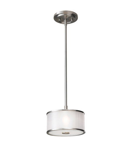 Feiss p1137bs casual luxury 1 light 8 inch brushed steel mini feiss p1137bs casual luxury 1 light 8 inch brushed steel mini pendant ceiling light in silver organza fabric aloadofball Gallery