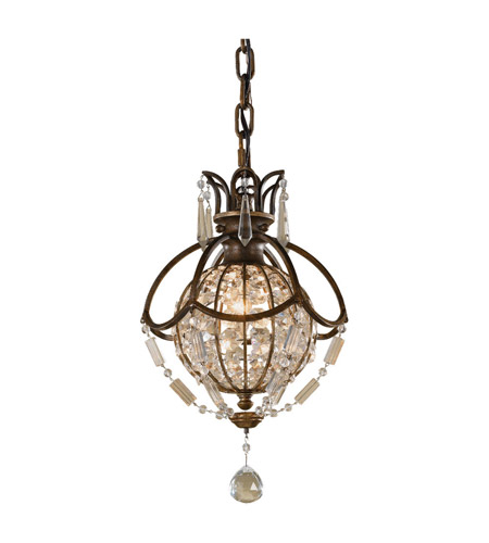 Feiss P1178OBZ/BRB Bellini 1 Light 9 inch Oxidized Bronze and British Bronze Mini Pendant Ceiling Light photo