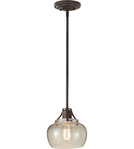 Feiss P1234RI Urban Renewal 1 Light 8 inch Rustic Iron Mini Pendant Ceiling Light in Standard photo
