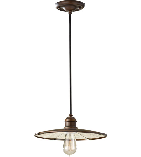 Feiss P1236ASTB Urban Renewal 1 Light 12 inch Astral Bronze Mini Pendant Ceiling Light in Standard photo