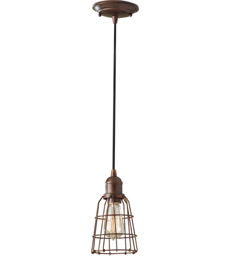 Feiss Urban Renewal 1 Light Mini Pendant in Parisian Bronze P1246PRZ photo