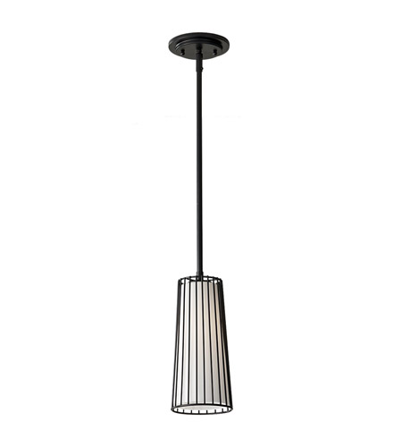 Feiss Urban Renewal 1 Light Mini Pendant in Black P1248BK photo