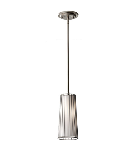 Feiss Urban Renewal 1 Light Mini Pendant in Brushed Steel P1248BS photo