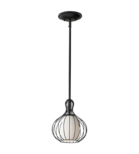 Feiss Urban Renewal 1 Light Mini Pendant in Black P1249BK photo