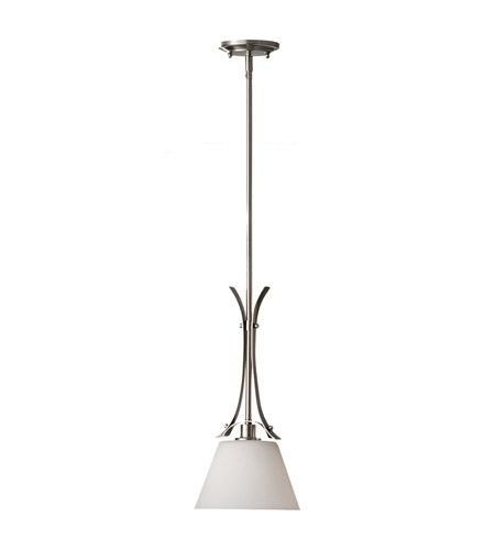 Feiss Spectra 1 Light Mini Pendant in Brushed Steel P1255BS photo