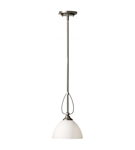 Feiss Morgan 1 Light Mini Pendant in Brushed Steel P1256BS photo