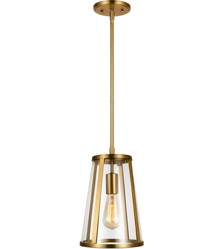 Feiss P1287BBS Harrow 1 Light 8 inch Burnished Brass Pendant Ceiling Light photo thumbnail