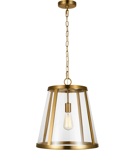 Feiss P1289BBS Harrow 1 Light 16 inch Burnished Brass Pendant Ceiling Light photo
