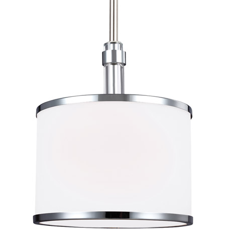 Feiss P1417SN/CH Prospect Park 1 Light 8 inch Satin Nickel and Chrome Pendant Ceiling Light photo thumbnail