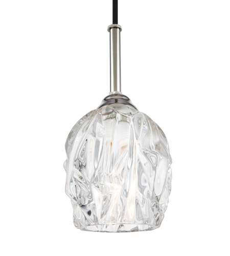 Feiss P1437pn Rubin 1 Light 5 Inch Polished Nickel Pendant