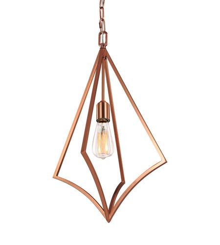 Murray Feiss Foyer Lighting: Feiss P1450CPR Nico 1 Light 14 Inch Copper Pendant Ceiling
