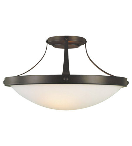 Feiss SF187ORB Boulevard 2 Light 15 inch Oil Rubbed Bronze Semi Flush Mount Ceiling Light in Standard photo