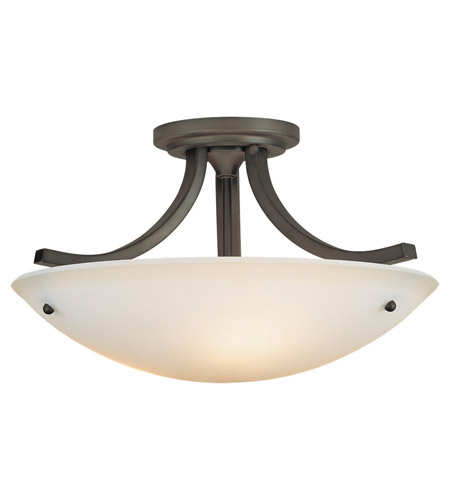 Feiss SF189ORB Gravity 3 Light 16 inch Oil Rubbed Bronze Semi Flush Mount Ceiling Light in Standard photo