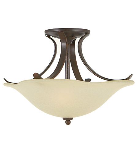 Feiss Morningside 2 Light Semi Flush Mount in Grecian Bronze SF213GBZ photo
