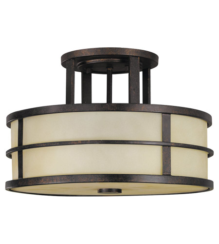 Feiss SF217GBZ Fusion 3 Light 14 inch Grecian Bronze Semi Flush Mount Ceiling Light in Standard photo
