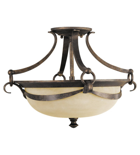 Feiss Segovia 2 Light Semi-Flush Mount in Peruvian Bronze SF218PBR photo