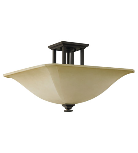 Feiss American Foursquare 4 Light Semi Flush Mount in Oil Rubbed Bronze SF237ORB photo