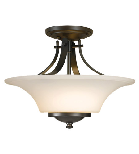 Feiss Barrington 2 Light Semi Flush Mount in Oil Rubbed Bronze SF241ORB photo