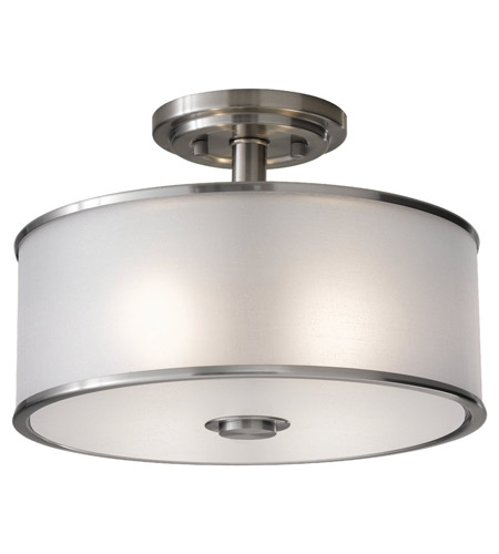Feiss Casual Luxury 2 Light Semi Flush Mount in Brushed Steel SF251BS photo