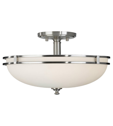 Feiss Kellenberg 2 Light Semi Flush Mount in Brushed Steel SF256BS photo