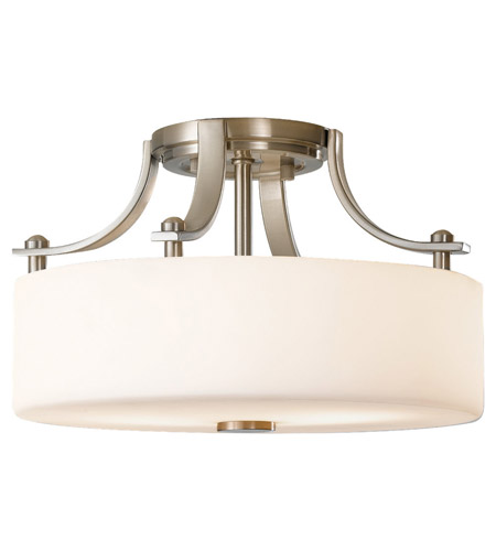 Feiss Sunset Drive 2 Light Semi Flush Mount in Brushed Steel SF259BS photo