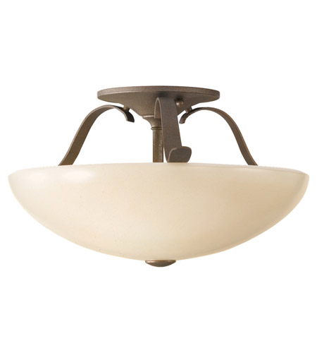 Feiss Kinsey 2 Light Semi Flush Mount in Corinthian Bronze SF263CB photo
