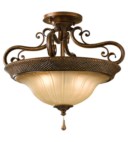 Feiss SF278FSV Celine 2 Light 17 inch Firenze Silver Semi Flush Mount Ceiling Light in Standard photo