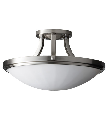 Feiss SF283BS Perry 2 Light 16 inch Brushed Steel Semi Flush Mount Ceiling Light in Standard photo