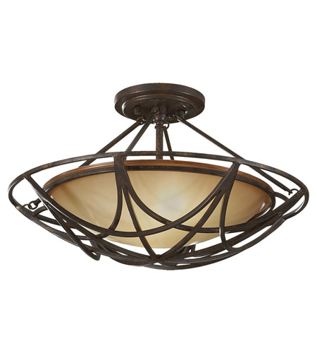 Feiss SF286MBZ El Nido 2 Light 18 inch Mocha Bronze Semi Flush Mount Ceiling Light photo