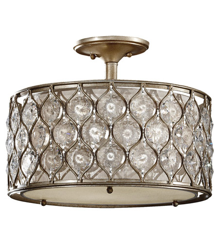 Feiss SF289BUS Lucia 3 Light 16 inch Burnished Silver Semi Flush Mount Ceiling Light in Standard photo