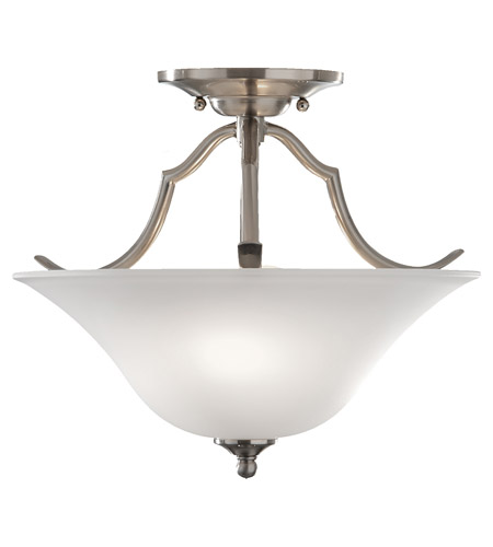 Feiss SF294BS Beckett 2 Light 14 inch Brushed Steel Semi Flush Mount Ceiling Light photo