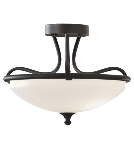 Feiss Merritt 2 Light Semi Flush Mount in Black SF295BK photo