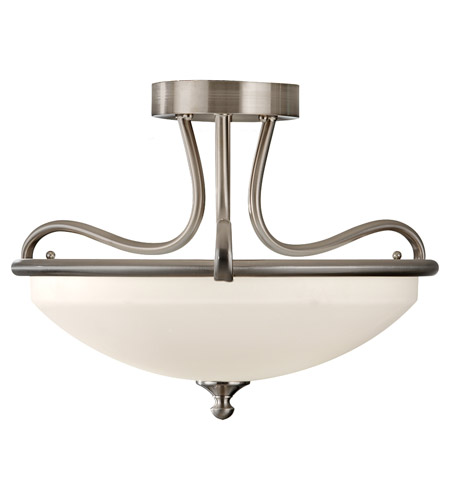 Feiss Merritt 2 Light Semi Flush Mount in Brushed Steel SF295BS photo