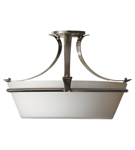 Feiss Spectra 3 Light Semi Flush Mount in Brushed Steel SF302BS photo
