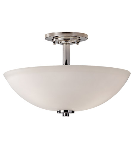 Feiss SF308PN Malibu 3 Light 15 inch Polished Nickel Semi Flush Mount Ceiling Light in Standard photo