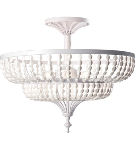 Feiss Maarid 3 Light Semi Flush Mount in White Semi Gloss SF311WSG photo