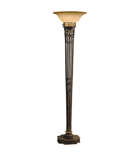 Feiss Opera 1 Light Floor Torchiere in Firenze Gold T1152FG photo