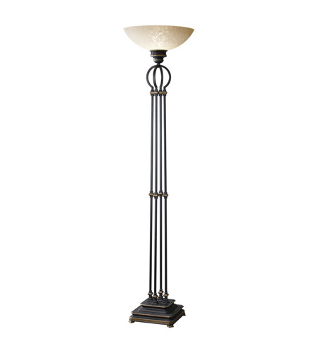 Feiss Adler 1 Light Torchiere in Espresso T1189ES photo