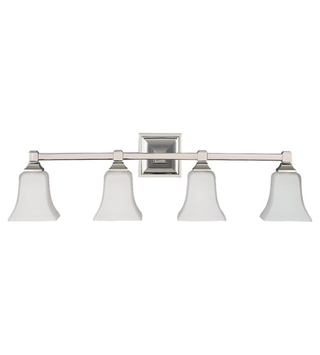 Feiss American Foursquare 4 Light Vanity Strip in Polished Nickel VS12404-PN photo