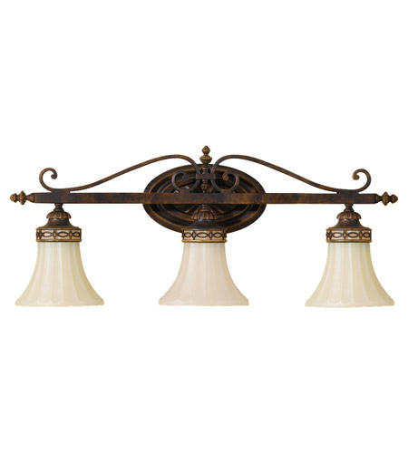 Feiss VS12503-WAL Drawing Room 3 Light 26 inch Walnut Vanity Strip Wall Light photo